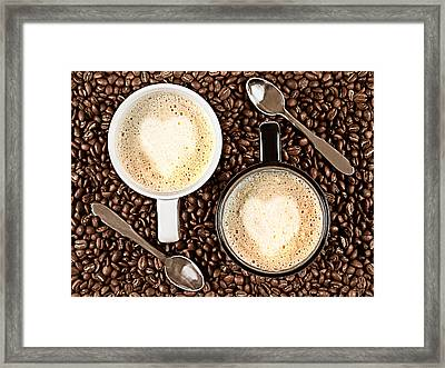 Caffe Latte For Two Framed Print by Gert Lavsen
