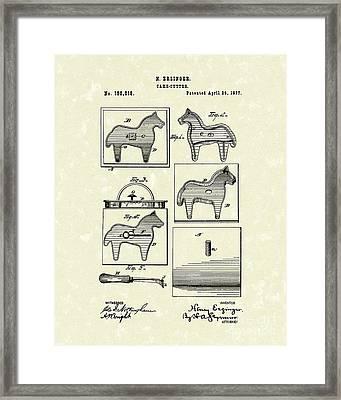 Cake Cutter 1877 Patent Art Framed Print by Prior Art Design