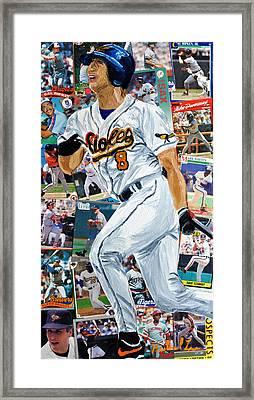 Cal Ripkin Jr Framed Print by Michael Lee