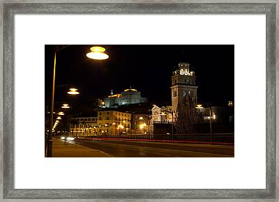 Calahorra Cathedral At Night Framed Print by RicardMN Photography