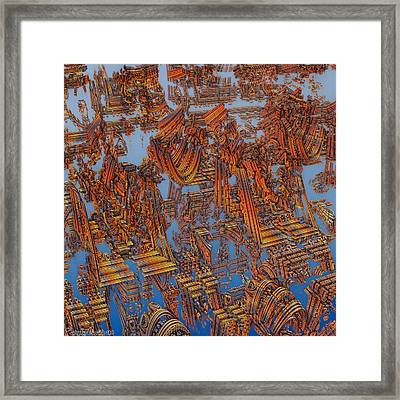 Calcutta Temple Goes To Heaven. Framed Print by Tautvydas Davainis