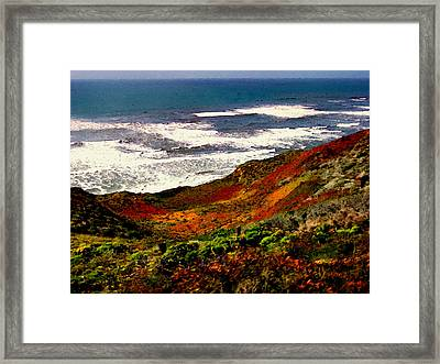 California Coastline Framed Print by Bob and Nadine Johnston