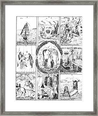 California Gold Rush, 1850 Framed Print by Granger