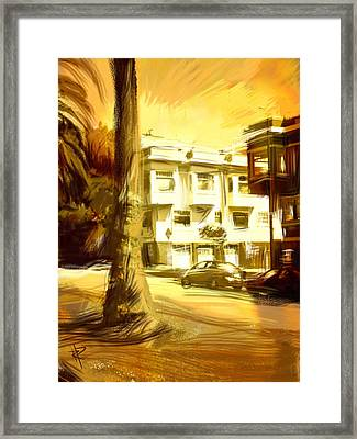 California Gold Framed Print by Russell Pierce