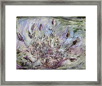 California Lavender Framed Print by Elizabeth Carrozza