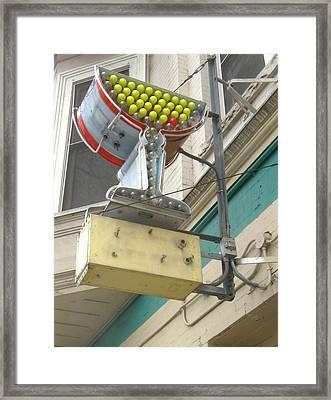 California Martini Framed Print by Todd Sherlock