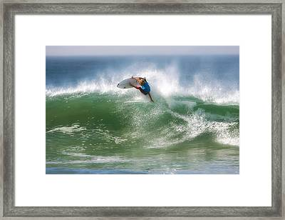 California Surfing 1 Framed Print by Larry Marshall