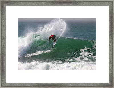 California Surfing 3 Framed Print by Larry Marshall