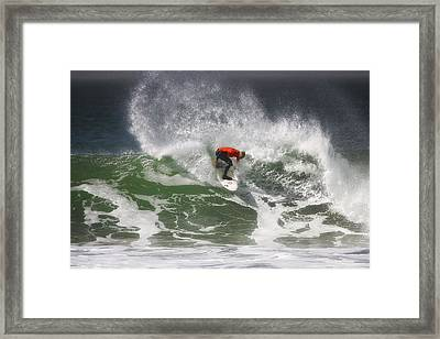 California Surfing 4 Framed Print by Larry Marshall