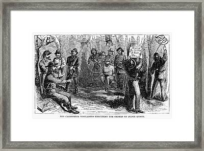 Califronia Vigilantes Framed Print by Granger