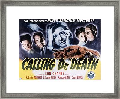 Calling Dr. Death, Patricia Morison, J Framed Print by Everett