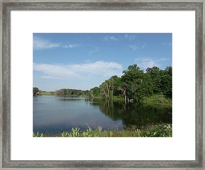 Calm Bay Lake Framed Print by Brian  Maloney