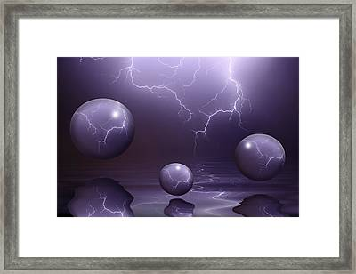 Calm Before The Storm Framed Print by Shane Bechler