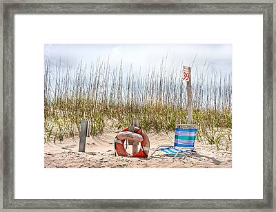 Calm By The Sea Framed Print by Betsy C Knapp