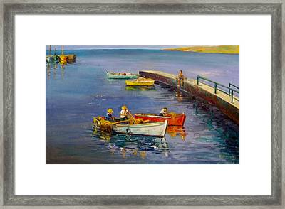 Calm Day Framed Print by George Siaba
