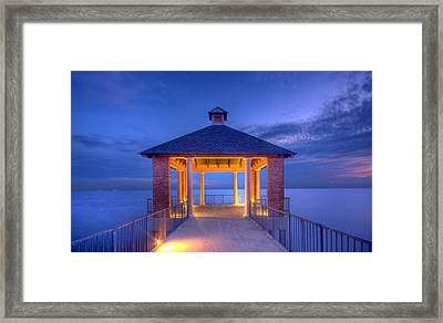 Calm Evening Framed Print by Pixel Perfect by Michael Moore