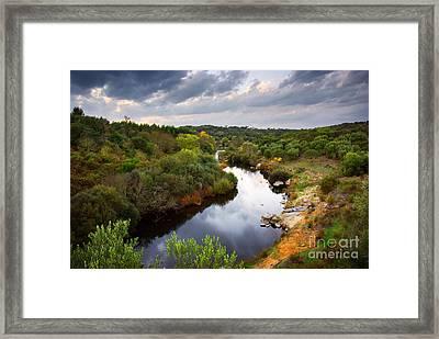 Calm River Framed Print by Carlos Caetano