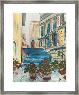 Caltanissetta  Framed Print by Judy Via-Wolff