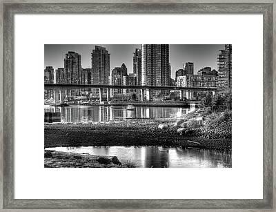 Cambie Street Bridge Framed Print by Bal Kang