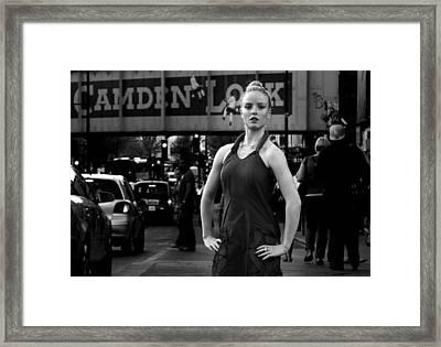 Camden Girl Framed Print by Pete Luckhurst