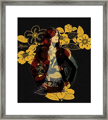 Camellia Michael Framed Print by Hitomi Osanai
