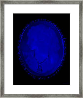 Cameo In Blue Framed Print by Rob Hans