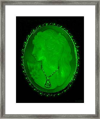 Cameo In Green Framed Print by Rob Hans