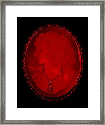 Cameo In Red Framed Print by Rob Hans