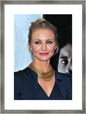 Cameron Diaz At Arrivals For The Box Framed Print by Everett