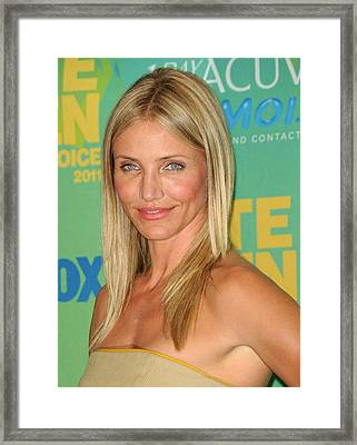 Cameron Diaz In The Press Room For 2011 Framed Print by Everett