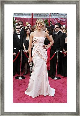 Cameron Diaz Wearing A Christian Dior Framed Print by Everett