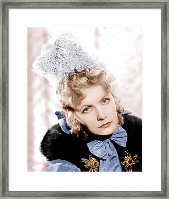 Camille, Greta Garbo, Portrait Framed Print by Everett