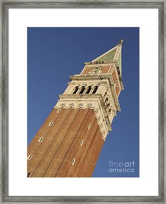 Campanile . Plazza San Marco. Venice Framed Print by Bernard Jaubert