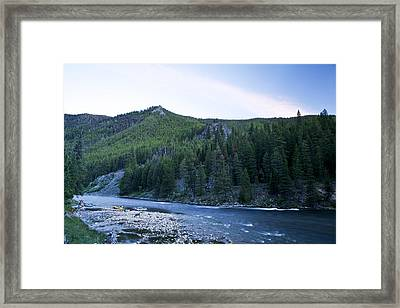 Camping On The Middle Fork Framed Print by Drew Rush