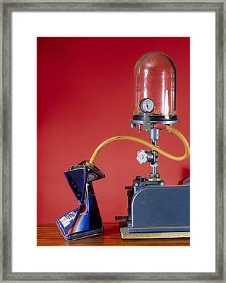 Can Evacuated By Vacuum Pump Framed Print by Andrew Lambert Photography
