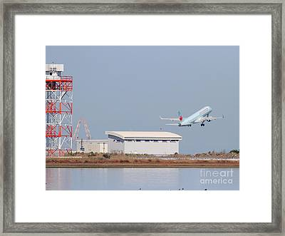 Canada Air Jet Airplane At San Francisco International Airport Sfo . 7d11995 Framed Print by Wingsdomain Art and Photography