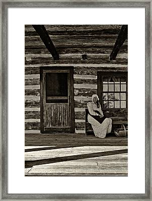 Canadian Gothic Sepia Framed Print by Steve Harrington