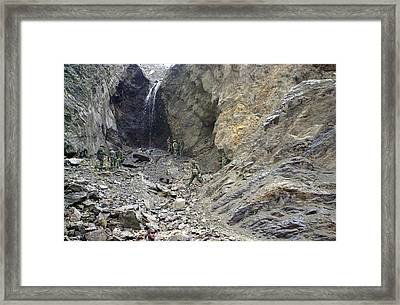 Canadian Soldiers Searching For Taliban Framed Print by Everett