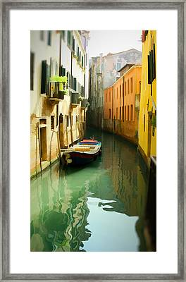 Canal Framed Print by Photography Art