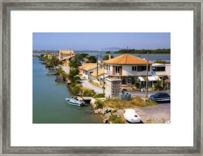 Canal Du Rhone Framed Print by Rod Jones