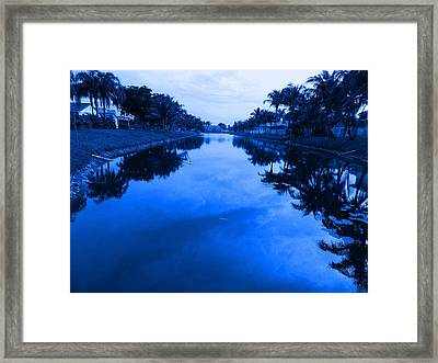 Canal View Framed Print by Val Oconnor