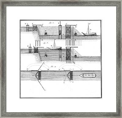 Canals: Languedoc Canal Framed Print by Granger