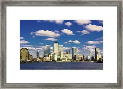 Canary Wharf Daytime Framed Print by Darkerphoto