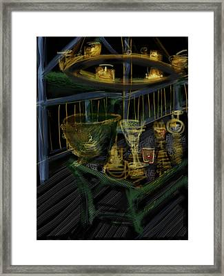 Candle Glow Framed Print by Russell Pierce
