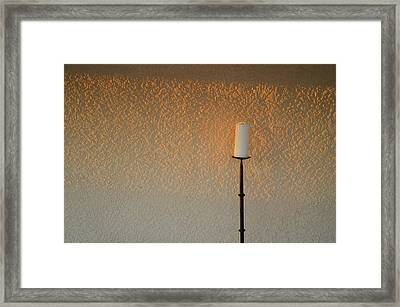 Candle With Fading Light Framed Print by Thomas Hurst