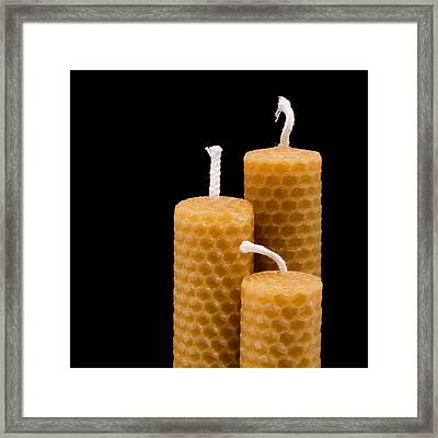 Candles Framed Print by Tom Gowanlock