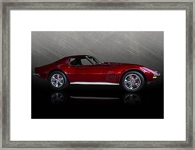 Candy Apple Corvette Framed Print by Douglas Pittman