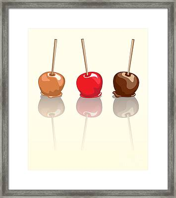 Candy Apples Reflected Framed Print by Jane Rix