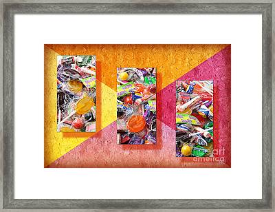 Candy Is Dandy Triptych Framed Print by Andee Design