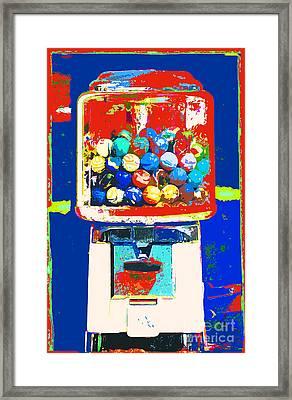 Candy Machine Pop Art Framed Print by ArtyZen Kids